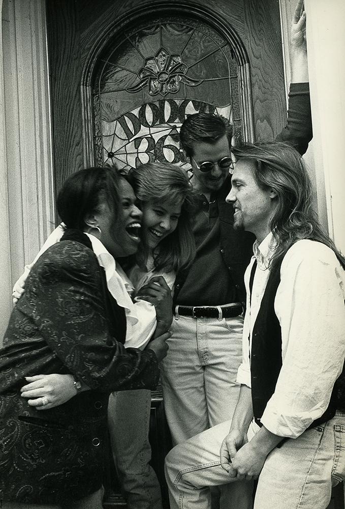 Sylvia Walters, Kopana Terry, Sean Tarter, Pete Poggione, 1995 (photo: Kevin Johnson)